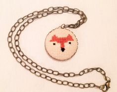 Cross stitch jewelry