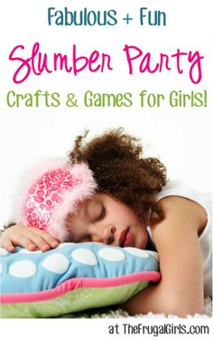 Fabulous and Fun Slumber Party Crafts and Ideas for Girls! ~ at TheFrugalGirls.com #parties #slumberparty #thefrugalgirls