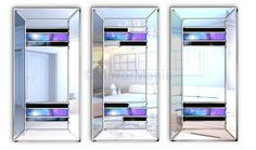 Platinum Original Handcrafted Modern Wall Mirror - Special Offers