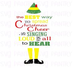 buddy the elf svg cut file elf svg file digital by theSVGpantry,svg, digital svg cut file, cuttables,christmas sign Christmas Signs, Christmas Ideas, Cricut, Buddy The Elf, Vinyl Designs, Holidays And Events, Svg File, Cutting Files, Software