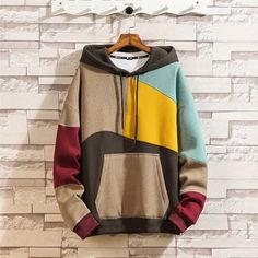 2019 Colorblocked Hip Hop Hoodie Pullover would really like doing this Moda Hip Hop, Tokyo Street Fashion, Style Grunge, Boho Grunge, Japanese Streetwear, Hoodie Outfit, Sweater Hoodie, Grunge Outfits, Tomboy Outfits