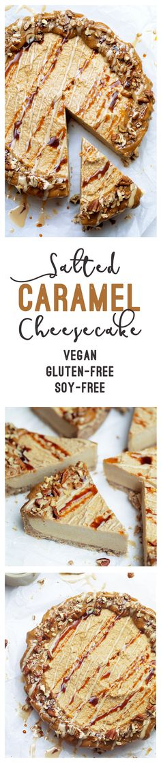 Salted Caramel Tahini Cheesecake {vegan, gluten-free + video}
