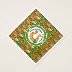 St. Patrick's Paper Napkins with Matching Products - monogram gifts unique custom diy personalize