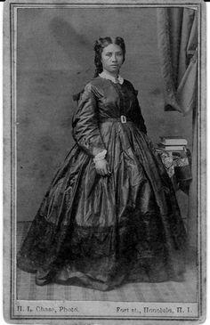 Liliuokalani, Queen of Hawaii, 1838-1917. Liliuokalani, as a young woman.  photo date 1865