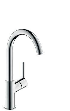 Hansgrohe I Talis I Einhebel-Waschtischmischer 210 mit Push-Open Ablaufgarnitur und Schwenkauslauf 120°