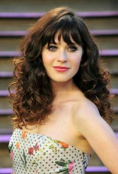 Long Curly Hairstyles with Bangs Oval Face Hairstyles, 2015 Hairstyles, Great Hairstyles, Hairstyle Look, Hairstyles With Bangs, Female Hairstyles, Hairstyles Videos, Vintage Hairstyles, Wedding Hairstyles