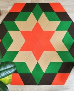 YO Handmade Modular Rug Carpet - Jewel and Lotus Rugs On Carpet, Carpets, Recycled Materials, 3 D, Recycling, Christmas Tree, Flooring, Contemporary, Holiday Decor