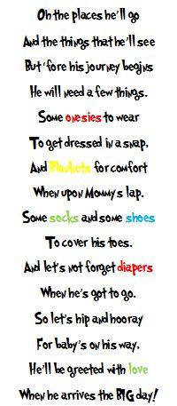 Uyema Family Matters: Dr. Seuss Baby Shower Gift Poem