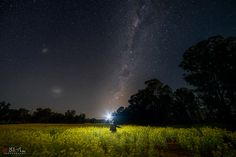 https://flic.kr/p/Mo3arH   The Clearing.   The Milky Way rises above a small canola field near Parkes, mid western NSW, Australia, in early September 2016.   Single capture. Sony A7rii. Samyang 14mm f/2.8. HVL F60M speedlight. Capture One raw.  Adobe CC Ps curves, levels, vibrance.