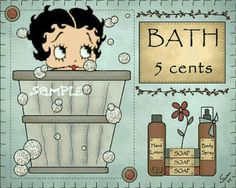 Image result for betty boop bath time