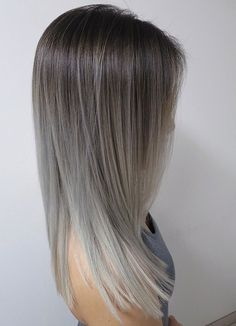 Grey ombre hair ideas to rock this year. Grey ombre hair is one of the most infl. - - Grey ombre hair ideas to rock this year. Grey ombre hair is one of the most influential recent color trends. Stylists state unanimously that it is an . Grey Hair Looks, Grey Ombre Hair, Grey Blonde, Blonde Ombre, Blonde Hair, Brown Grey Ombre, Grey Ash Brown Hair, Ombre Medium Hair, Ombre Silver Hair