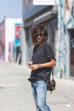 Trendy Summer Outfits, Casual Outfits, Cute Outfits, Fashion Outfits, Womens Fashion, Medium Hair Styles, Short Hair Styles, Short Shag Hairstyles, Estilo Hippy