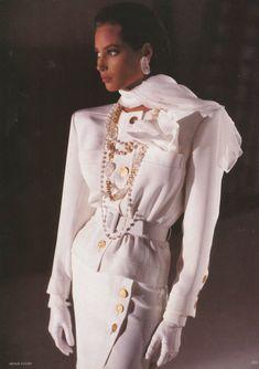 Christy Turlington by Arthur Elgort for Vogue UK, April 1988.