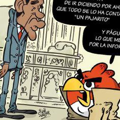#Cartoons by Raúl Salazar. #illustration #ilustración #viñeta #cartoon #news #funny #drawing #humor #comic #Obama #AngryBirds #WhiteHouse #USA #Spy