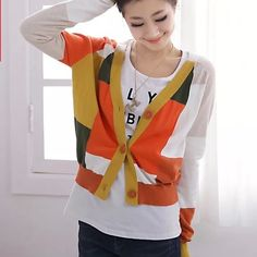 Multi color pattern cardigan Super chic and pretty Sweaters Cardigans