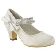 CHILDRENS-GIRLS-KIDS-HIGH-MID-HEEL-DIAMANTE-PARTY-SHOES-BRIDESMAID-SANDALS-SIZE Kitten Heel Shoes, Mid Heel Shoes, Pump Shoes, Ballet Shoes, Shoes Sandals, Pumps, Kid Shoes, Girls Shoes, Me Too Shoes