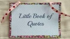 Quote Book, Book of Quotes