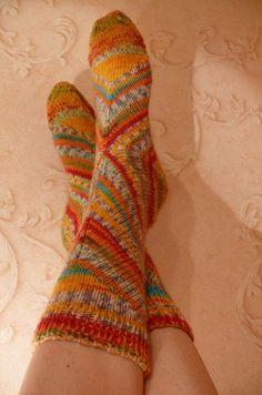 Estonian Heel Socks: http://www.ravelry.com/patterns/library/soki-kudumise-juhend