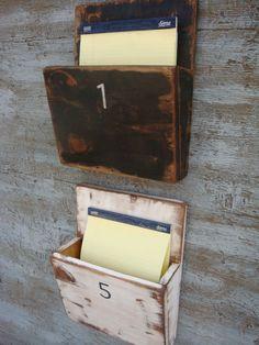 FREE SHIP Magazine Rack File Holder Wall by TheUnpolishedBarn
