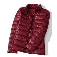 Casual  down jackets (135 PLN) ❤ liked on Polyvore featuring wine red