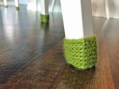 Virkatut tuolisukat / crochet chair socks Chair Socks, Glass Of Milk, Crochet, Chrochet, Crocheting, Ganchillo