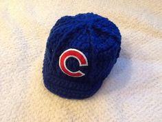 Chicago Cubs Newborn Crochet Baseball Cap - Photographer Prop