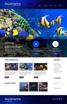 Fish Responsive #wordpresstheme wordpress website template