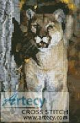 Mini Mountain Lion Counted Cross Stitch Pattern http://www.artecyshop.com/index.php?main_page=product_info&cPath=11_12&products_id=1231