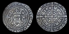 War of the Roses period English Half groat for sale. Henry VI. Made in 1430 - 1431.