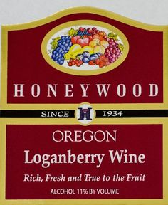 NV Honeywood Winery Loganberry Fruit Wine 750 mL >>> More info could be found at the image url.