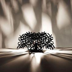 Coral Lamp: Luminárias inspiradas nas formas dos corais. A ideia foi brincar com forma e sobreposição, criando um universo de sombras e luzes no ambiente. Designer:  André Cruz  - ViaLight Design