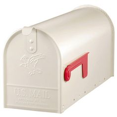 PostMaster�6-7/8-in x 8-3/4-in Metal White Post Mount Mailbox $17.97