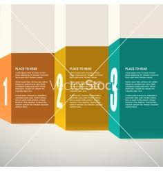 Template for presentation infographics design vector - by eriksvoboda on VectorStock®