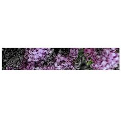 Lilacs Fade to Black and White Flano Scarf (Large)