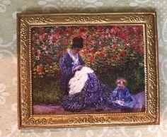 Vintage Miniature Dollhouse Framed Wall Painting 1:12 Doll Home-Decor SU