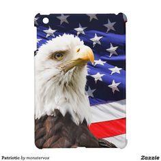 Patriotic Cover For The iPad Mini #Pariotic #Eagle #Flag #USA #BaldEagle #iPadMini #Computer #Cover #Case