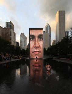 corona fuente  Millenium Park, Chicago, Illinois   Jaume Plensa, artista