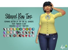 Rolled up sleeves added to Get Together Bow top.