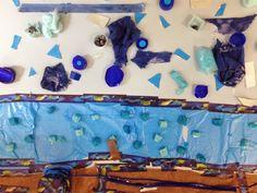 COLLAGE VAN GOGH BLAUS - Material- Paper, cola, diversos elements - Nivell: Primària CI 14/15