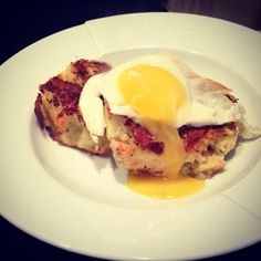 Bubble and squeak and fried egg for breakfast this morning <3