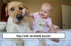 #TGIF #dog #baby #chien #bébé #zoomalia #animalerie www.zoomalia.com