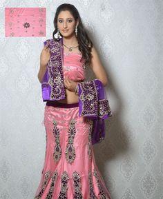 Buy Majesty Rose Pink Lehenga Choli online at $292.38 [ADF30491]