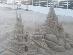 sandcastles on the beach