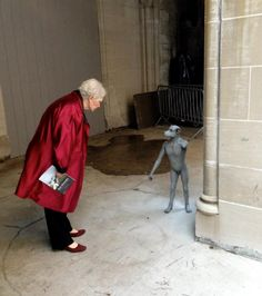 The war I offen feeling like . when meeting other people dramatic sculptural tableaux, hybrid human-animal sculptures, and photomontages in by South African artist Jane Alexander / Cathedral of St. John, (Museum of African Art. South African Artists, Yarn Bombing, Animal Sculptures, Land Art, Photomontage, Cathedral, Street Art, Museum, Exhibitions