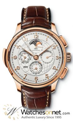 IWC Portuguese  Automatic Men's Watch, 18K Rose Gold, White Dial, IW377402