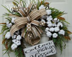 Shop for fall wreaths on Etsy, the place to express your creativity through the buying and selling of handmade and vintage goods. Wreaths For Front Door, Door Wreaths, Grapevine Wreath, Front Porch, Autumn Wreaths, Christmas Wreaths, Wreath Fall, Spring Wreaths, Burlap Bows