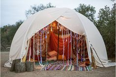 Bohemian Love Tent Style | Champagne Kaleidoscope
