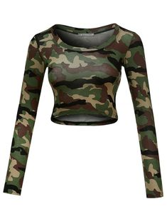 Crop Top Outfits, Edgy Outfits, Cool Outfits, Girls Fashion Clothes, Teen Fashion Outfits, Vetement Hip Hop, Camouflage Tops, Harley Shirts, Belly Shirts