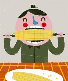Ben Javens illustration is terrific. Simple, funny and slightly creepy.