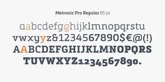 Metronic Slab Proby Mostardesign   Metronic Slab Pro is a slab serif typeface with a technological and minimalist look for text and headline...